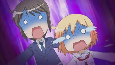 Kotoura-san Episode 2 - Kotoura and Manabe's freak out