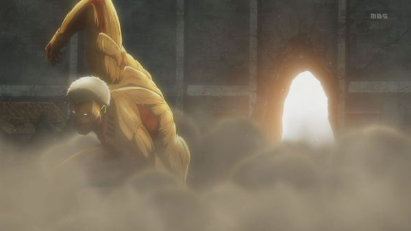 Shingeki no Kyojin 02 - Armored Titan break through