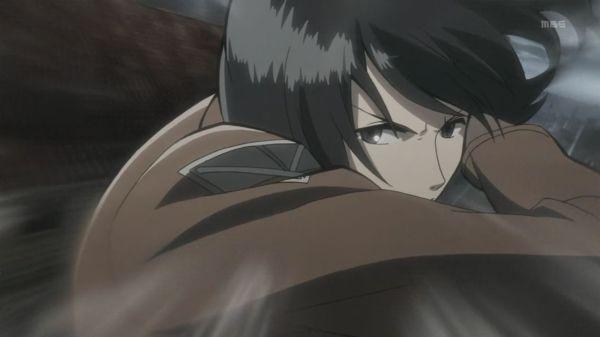 Shingeki no Kyojin 6 Mikasa action