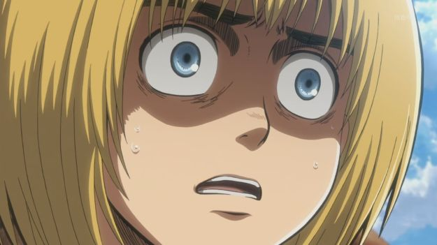Shingeki no Kyojin Episode 5 Armin Scared