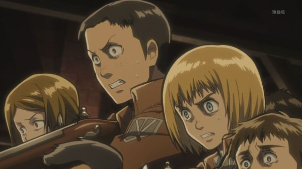 Shingeki no Kyojin Episode 8 - Armin plan of action