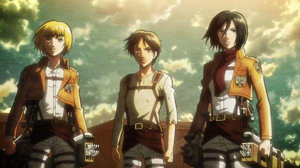 Shingeki no Kyojin Ep 11 - Armin, Mikasa and Eren