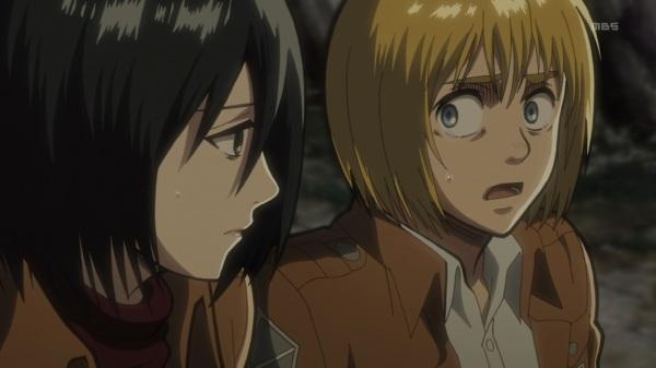 Shingeki no Kyojin Episode 10 Armin Mikasa