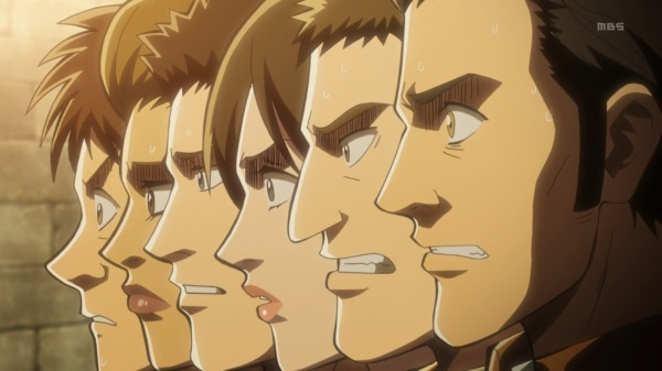 Shingeki no Kyojin Episode 10 Worried Soldiers