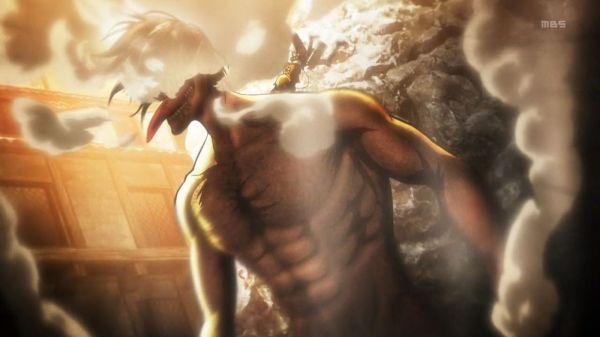 Shingeki no Kyojin Episode 12 Eren Titan Form